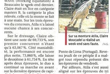 Dans la Provence aujourd'hui : Claire et Atila multiplient les podiums.