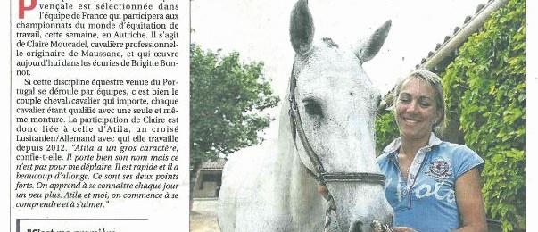 En route pour le Championnat du Monde d'Equitation de Travail