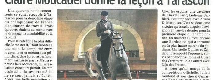 Claire remporte le concours Working Equitation de Tarascon